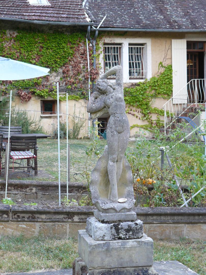 Statue in the herb garden