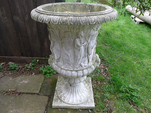 Pair of Borghese Coade Stone Vases