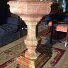 Rosso Barocco marble urn 2