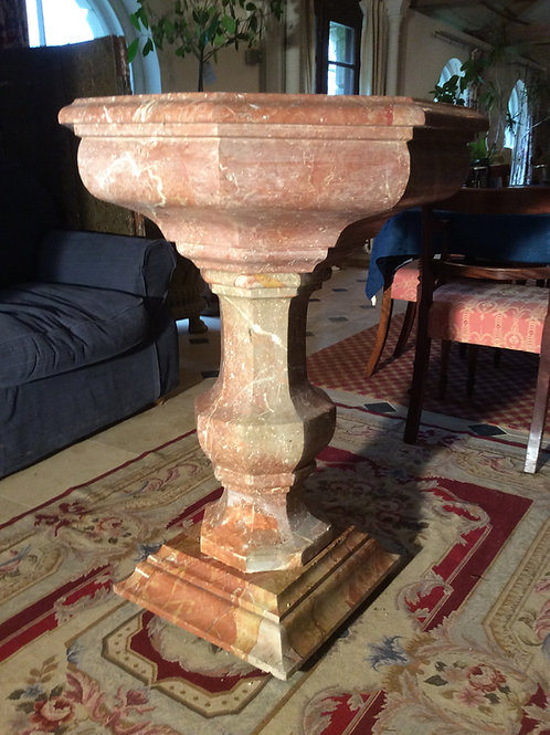 Rosso Barocco Marble Urn
