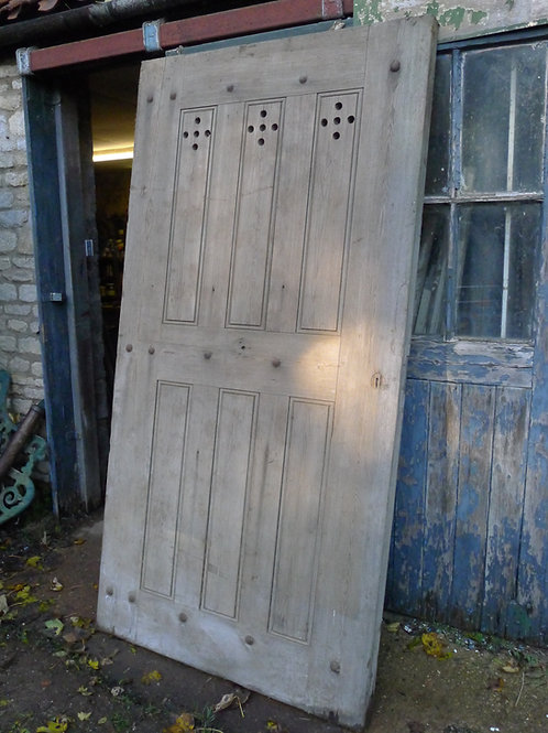 Early Victorian Pitch Pine Door
