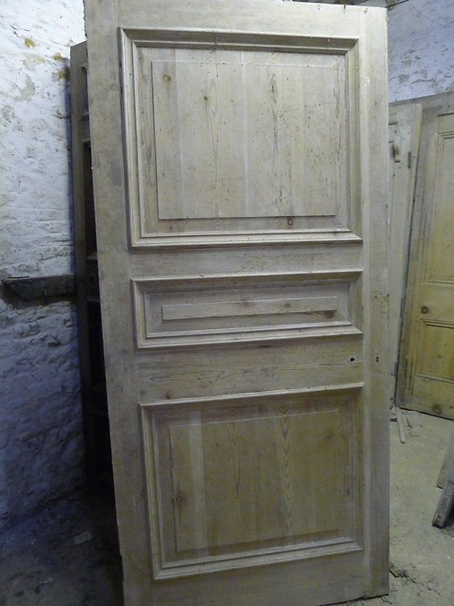 Three Panel Pitch Pine Door