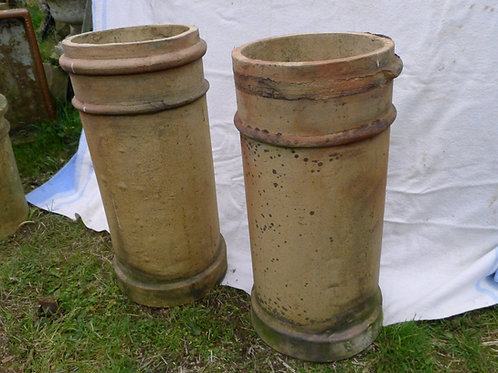 Pair of Clay Chimney Pots