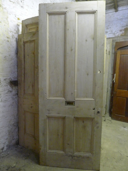 Victorian Four Panel Door with Letterbox