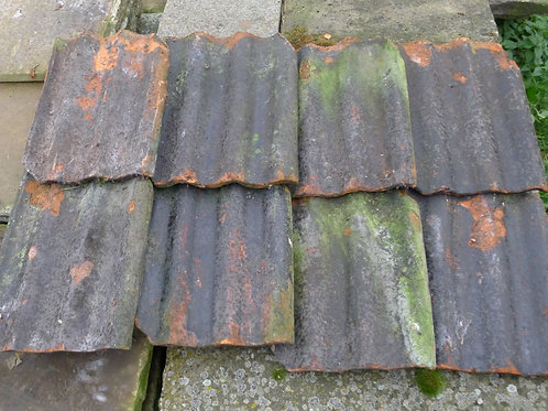 Triple Rolled Black Glazed Victorian Pantiles