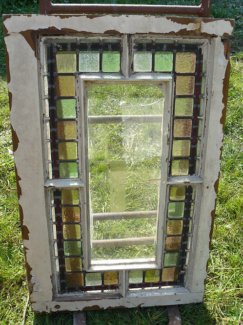 Window with Stained Glass Surround