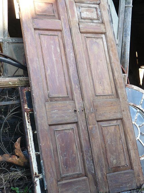 Pair of Large Mahogany Doors