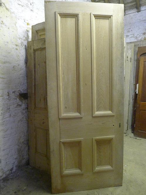 Early Victorian Four Panel Door in Pine