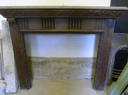 20th Century Oak Fireplace