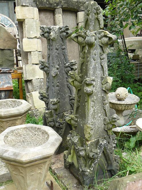 Pair of York Stone Church Finials