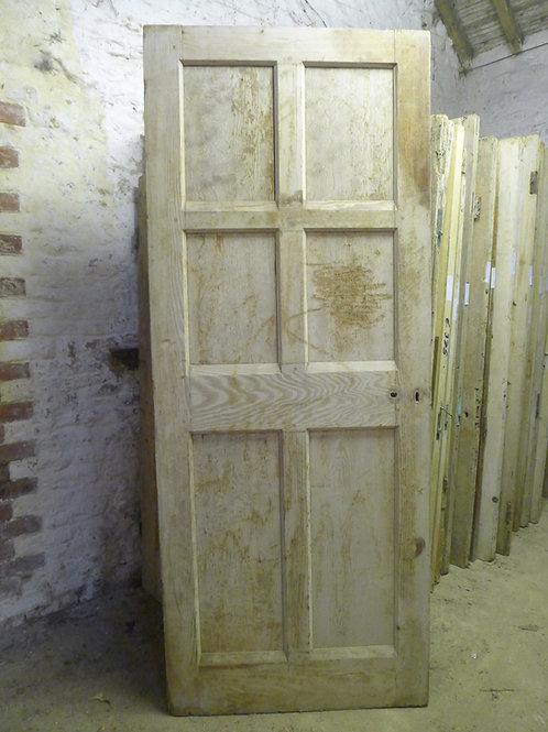 Plain Victorian Pitch Pine Door