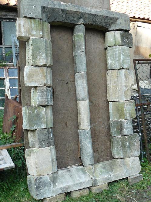 Damaged Limestone Mullion Window