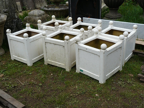 Square Wood Effect Planters