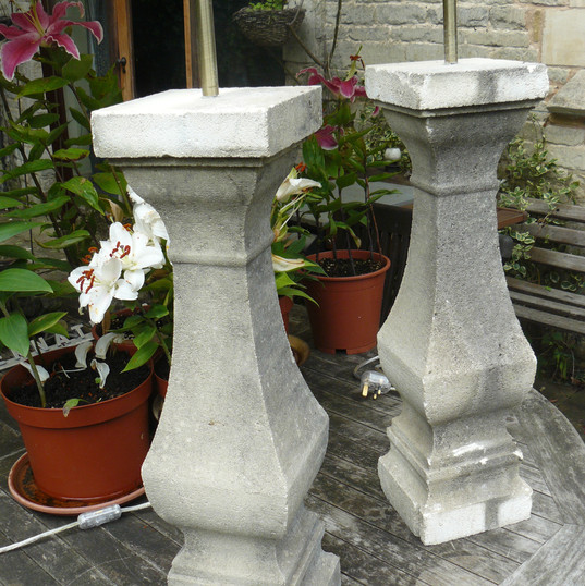 Pair of stone lamp stands 2
