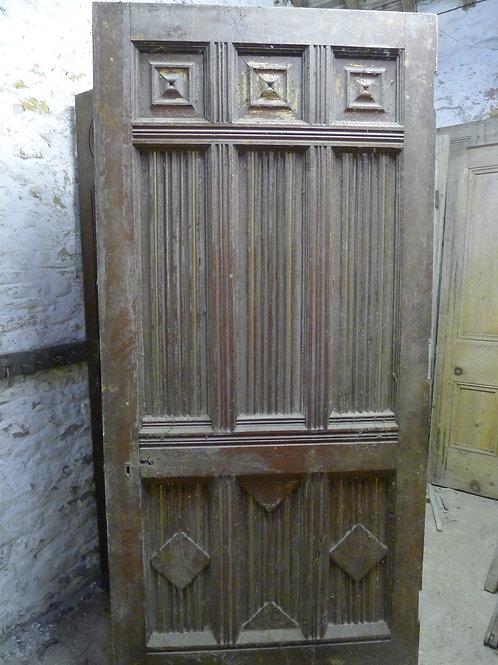 High Victorian Wooden Door