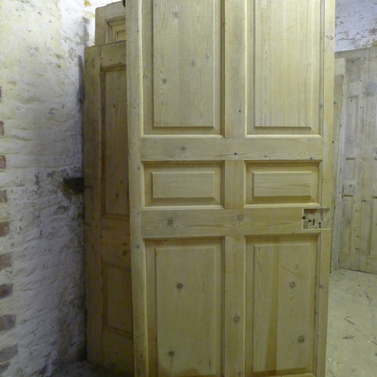 George II six panel pine door or panel