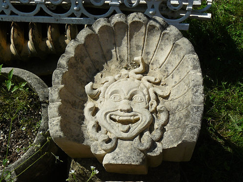 Grotesque Stone Face