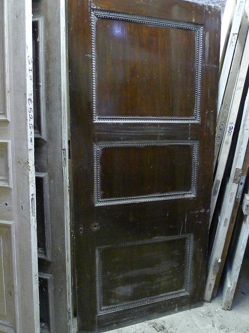 Mahogany Three Panel Door