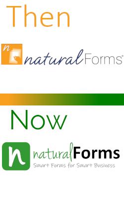 old naturalForms logo and new naturalForms logo