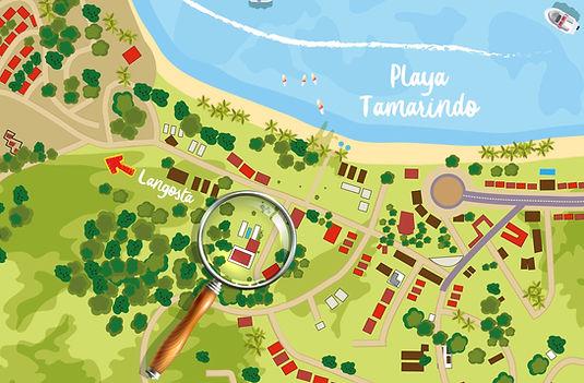 Tamarindo Map Costa Rica