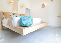 Turquoize Room with suspended bed