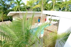 Bedandbreakfast-tamarindo-pool-from-sky-