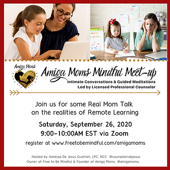 Amiga Moms Sept. 2020 Monthly Mindful Me