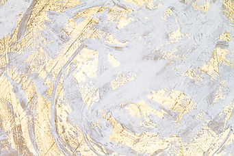 White And Gold Oil Painted Abstract Work