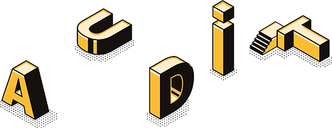 Audit-Yellow-and-black-Block-Lettering-o