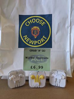 Grab n Go Wired Headphones £6.99