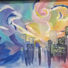 Colorful City Sky