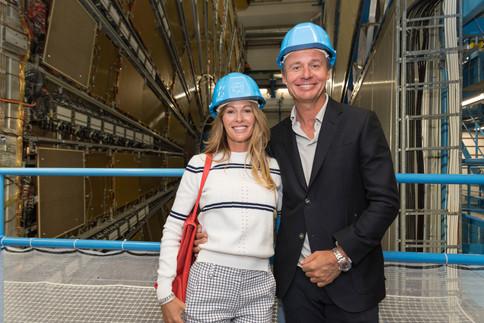 Ernesto & Kirsty Bertarelli at CERN