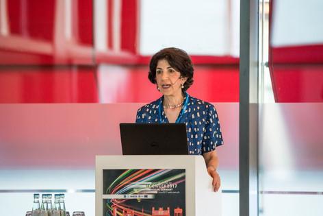 Director General of CERN Fabiola Gianotti at FCC Week 2017, Berlin