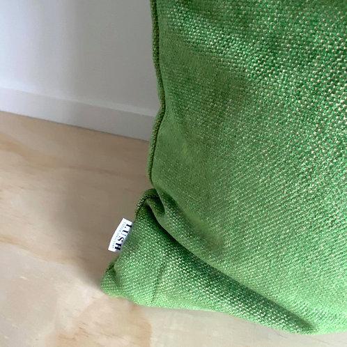 TEXTURED VELVET - KELLY GREEN CUSHION