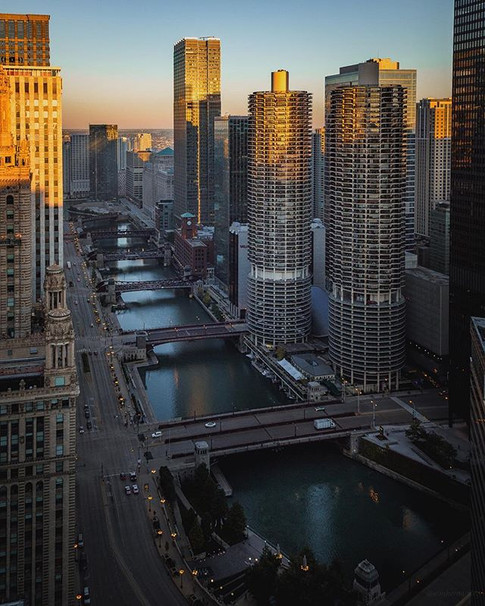 Falling Light in Chicago