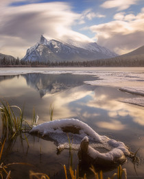 Morning Light at Vermillion Lakes