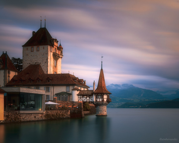 The Oberhofen Castle on Lake Thun