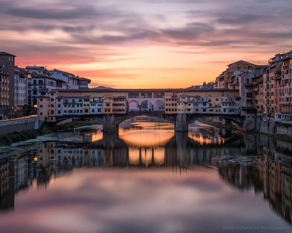 Sunrise at Ponte Vecchio