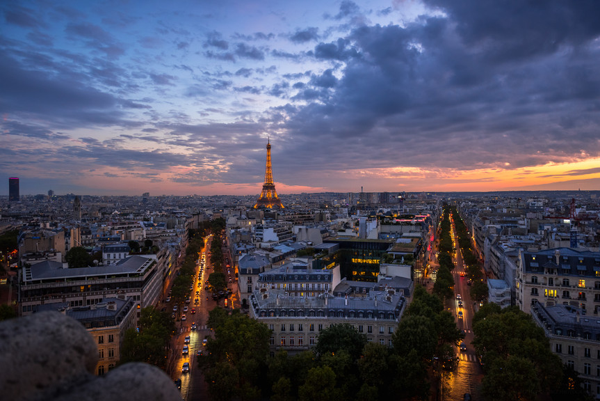 Sunset Views of Paris