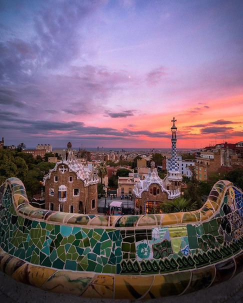 Park Guell at Sunset