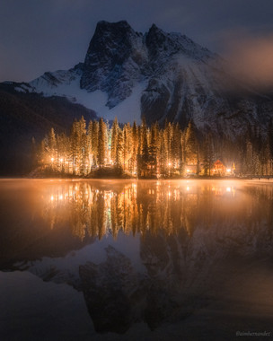Evening Reflections at Emerald Lake