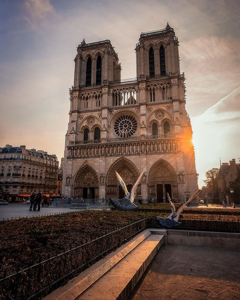 First Light at Notre Dame