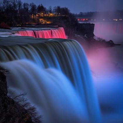 Night Lights in Niagara Falls