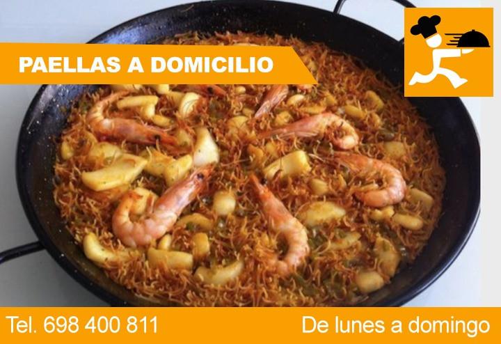Paella de marisco en Barcelona a domicilio