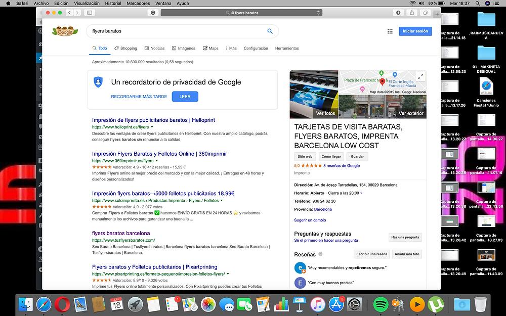 reseñas falsas google  business