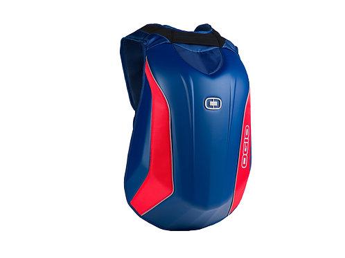 OGIO MACH 3 MOTORCYCLE BAG - תיק גב קשיח לרוכב מאך 3 בצבע כחול/אדום