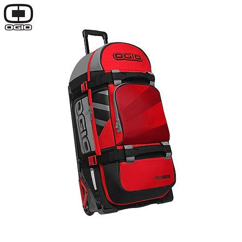 RIG 9800 ROLLING LUGGAGE BAG - מזוודת טרולי בצבע שחור - אדום
