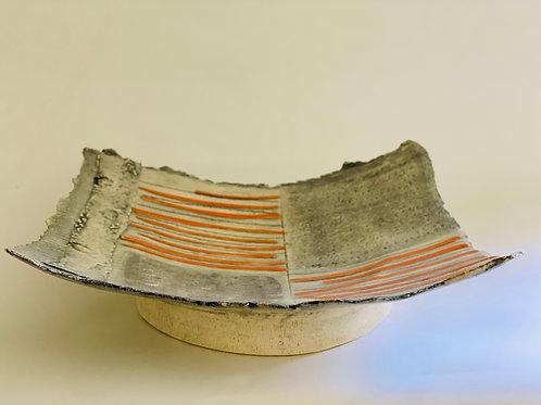 Orange Lines Platter