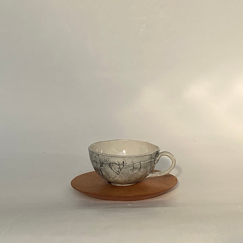 Tea cup with Wooden Base