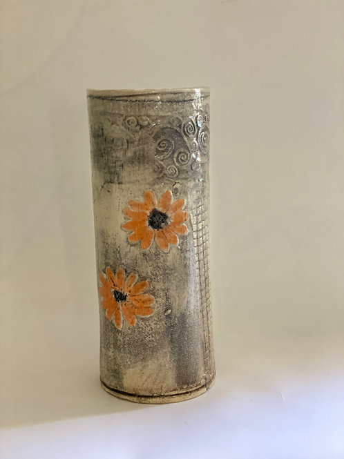 Orange Bloom Vase (Tall)